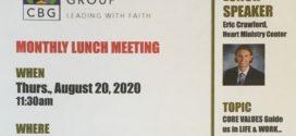 Aug. 20th, 2020 – CBGO Lunch Mtg.