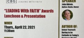 """April 22, 2021 """"Leading with Faith Award"""" Luncheon"""